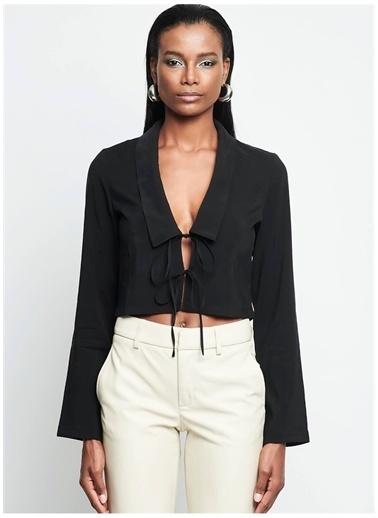 Iamnotbasic IAMNOTBASIC Kadın Siyah Skyler Gömlek Siyah